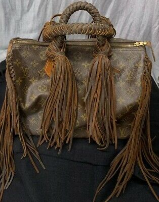 613e62be3 Louis Vuitton SPEEDY 30 Luxury Handbag Fringed by Vintage Gypsy Bags  Pre-Owned