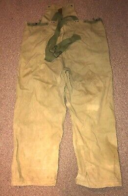 WWII WW2 US U.S. USN Navy Deck Pants,Trousers,Bib,Overalls,Military,Weather,War