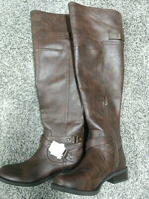 29c09db7ec8 G BY GUESS Womens Hing Wide Calf Riding Boots - $39.00 | PicClick