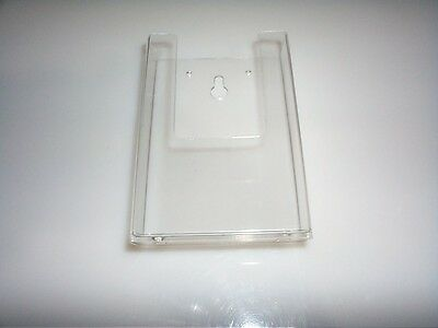 """24 - Acrylic Literature, Brochure Holders / Wall Mount / Holds up to 4""""x9"""" Media"""
