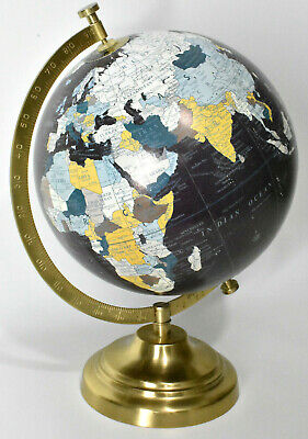 World Globe Classic12 inch Height 8in Dia Dark Blue Ocean w/ Metal Base Stand
