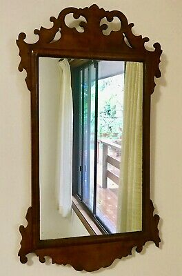 Antique George III Walnut Framed Mirror