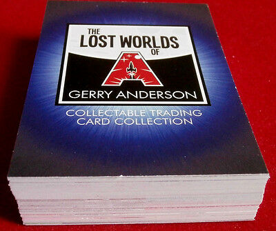 LOST WORLDS of Gerry Anderson, inc. STARCRUISER - COMPLETE BASE SET of 54 CARDS