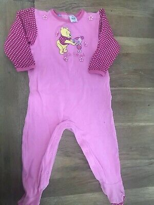 Disney Winnie The Pooh Coverall Suit Pjs Size 1 Baby Girl Hot Pink 💗💗