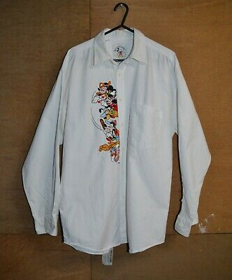 Vintage Mickey & Co By Oyster Mens Embroidered Button Up Shirt Size S M L Disney