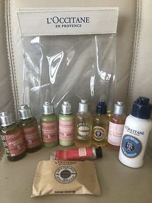 Loccitane Body Gift Set Shampoo Conditioner Shower Oil Body LotionHand Cream Bag