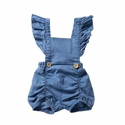 Denim Sleeveless Newborn Baby Girls Jumpsuit Short Sleeve Summer Rompers Outfit