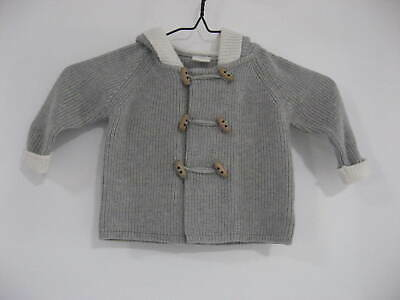 Seed Baby Knitted Hoodie With Toggles Size 3-6 Mths