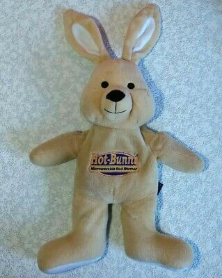 INTELEX VINTAGE HOT BUNNY RABBIT MICROWAVABLE BED WARMER ~ BROWN ~ 46 cm's w EAR