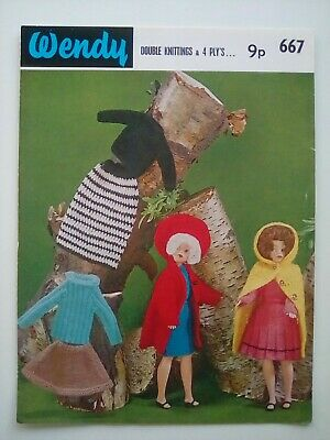 Wendy - Dolls Clothes Outfit -Sindy Style Doll-Original Vintage Knitting Pattern