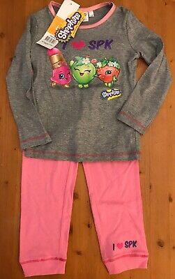 Girls age 4 Shopkins pyjamas / PJs *NEW with TAGS*
