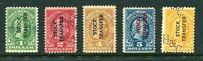 United States Documentary stamps overprinted stock transfer used