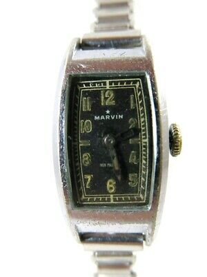 Old Vintage Art-Deco MARVIN Hand Winding Watch 15J'  Swiss Made