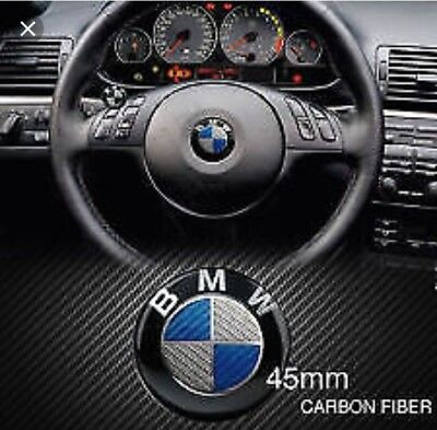 EMBLEMA INSIGNIA PARA BMW CARBONO AZUL DE 45MM VOLANTE wheel stick CARBON BLUE
