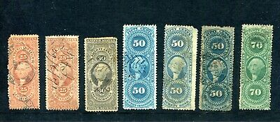 1860's United States fiscal stamps used