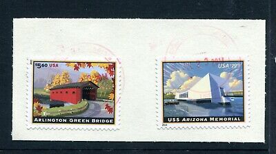 United States priority mail iconic landmarks series stamps used
