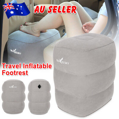 AU Inflatable Foot Rest Travel Air Pillow Cushion Office Leg Up Relax Footrest