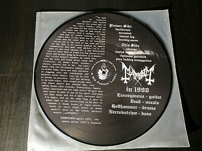 Mayhem The Dawn Of The Black Hearts LP PD Picture Disc A No Label 1997 Original!