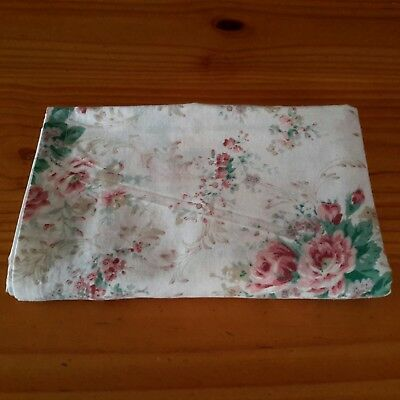 Vintage Shabby Roses Sheet Crafts Fabric