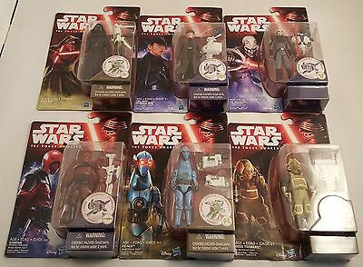 Lot of 6 Star Wars The Force Awakens Action Figures~Kylo Ren~General Hux~PZ-4CO~