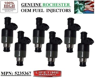 6Units OEM 5235367 Rochester Fuel Injectors 1990//91//92//93 Chevy Lumina 3.1L V6