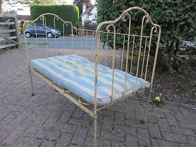 Vintage Victorian Metal Cot Day Bed French Style Shabby Chic