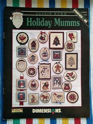 Dimensions Christmas Cross Stitch Leaflet - #314 - Holiday Mumms - As New