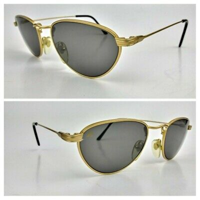 i'S Bausch & Lomb W2447 Brass Sunglasses Frame 51[]18 135mm Glass Lens Vintage