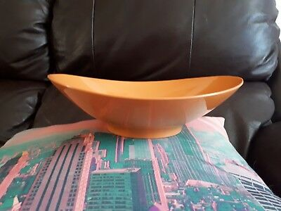 Vintage Retro Orange Bessemer Nylex Australia Melmac Fruit Bowl