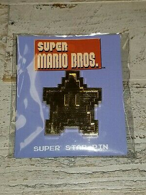 New! Nintendo Super Mario Bros. Super Star Exclusive Collector's Pin Culturefly!