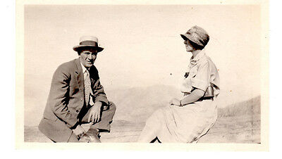 Early 1900s antique photograph of a man & a woman dated 1928
