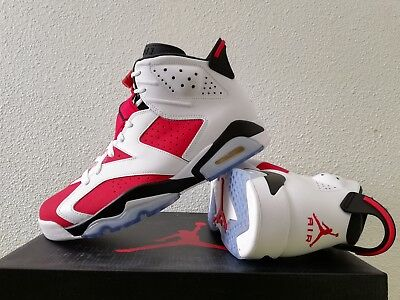 9aa5a1efb170 2014 Nike Air Jordan Vi 6 Retro Carmine 9Uk   10Us   44Eu White Black Red