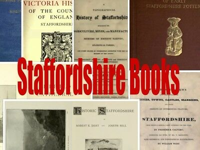 168 Staffordshire Books History Genealogy Topography Registers Domesday book dvd