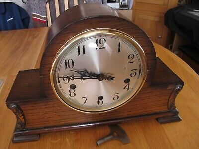Westminster/Whittington Dual Chime Mantel Clock. Working With Key.