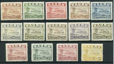 Nauru 1924-48 set SG26B/39B MLH/MM cat £200 - see desc