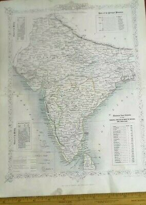 British India~British colonies~Rapkin~London Printing~Mutiny~Mutinies~Military