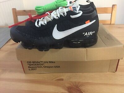 ea650a210d7 Nike Air Vapormax FK OFF-WHITE AA3831 001 size 9 DS 100% authentic