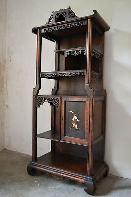 French Japonisme Inlaid Cabinet / Bookcase in the Style of Gabriel Viardot, 1890