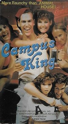 Campus King aka King Frat (VHS) VERY RARE OOP HTF Raunchy Nudity Comedy 1979