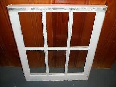 Vintage Antique Wood Window 6 Pane Sash 24 X 28 Picture Fame Pintrest