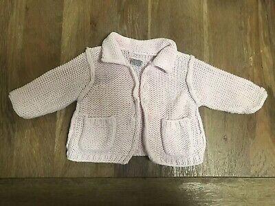 Fred Bare Chunky Knit Cardigan Pink Size 000 Jacket Winter Warm