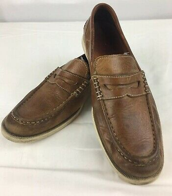 ba003d6539a Mens Cole Haan Country Genuine Handsewn All Leather Penny Loafers sz 8.5 M