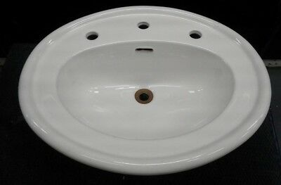 SINK Vintage Celite Oval Poreclian Sink 1920/1950 Made in Brazil