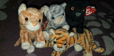 Collection Of Cat TY Beanie Babies