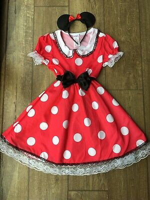 Minnie Mouse Dress With Headband Size 8-10 Years