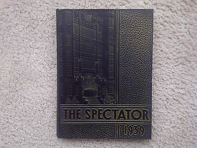 """Vintage -- Johnstown High School Yearbook -- The Spectator -- 1939 """"Collectible"""""""