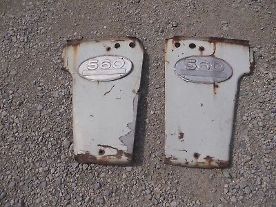 Farmall 560 Tractor Original IHC IH front radiator side hood panels & emblems