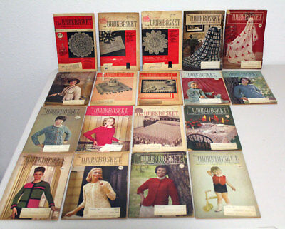 Lot of 18 The Workbasket Magazine 1950s 1960s Knit Crochet Annie Patterns Club