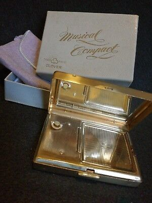 Vintage not working musical compact by CLOVER in original box
