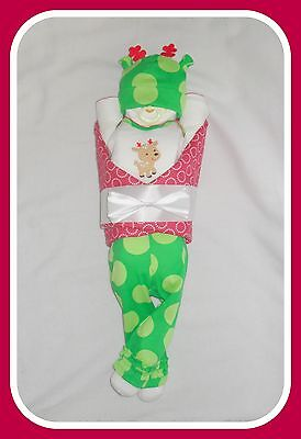 Baby Girl Christmas Reindeer Diaper Cake Baby-Gorgeous Centerpiece/Gift